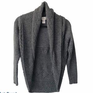 Foxcroft Chunky cardigan Trendy Textured Grey PS
